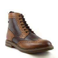 Mens Brown/Tan Burnished Boots