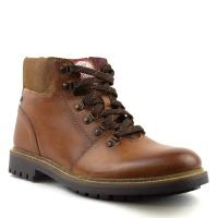Mens Brown Burnished Boots